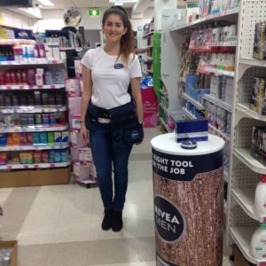 Laura at activation for Nivea Men