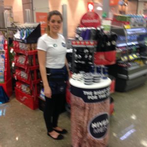 Hannah at Woolworths for Nivea Men Launch